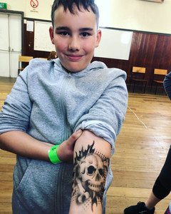 Kids Temporary Airbrush Tattoos Skull Wellington New Zealand