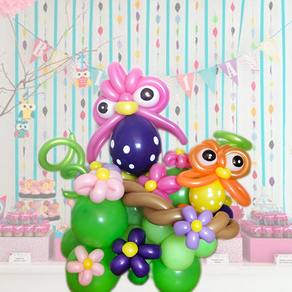 Owl balloon centrepiece decoration