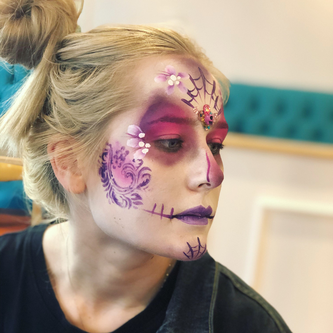 pink sugar skull makeup