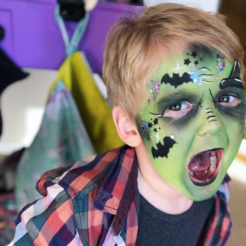 scary witch boy Halloween face painting wellington New Zealand