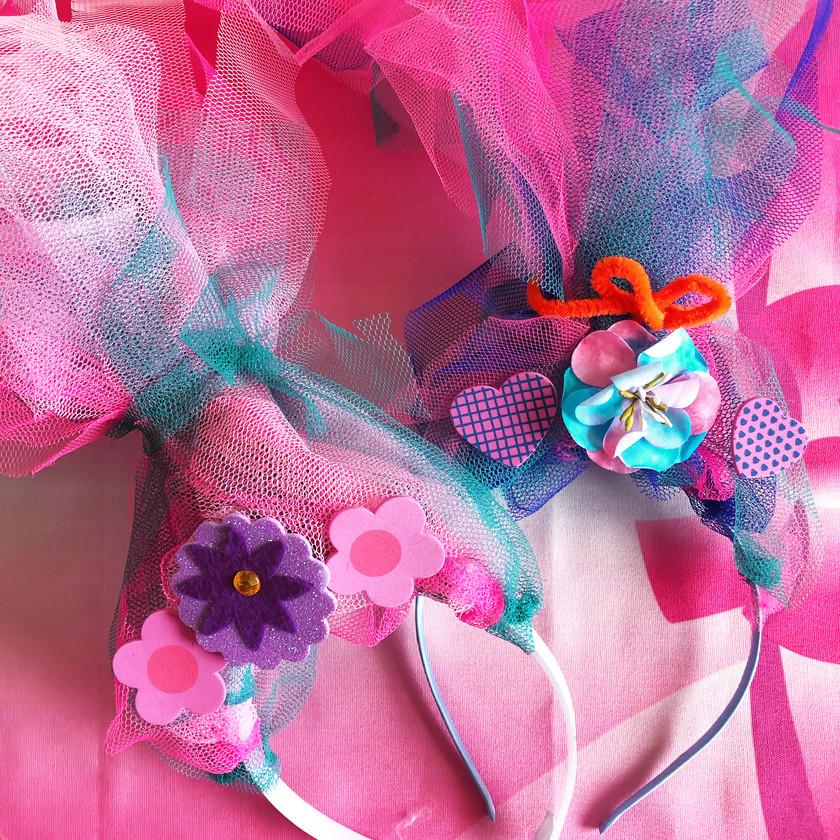 Poppy Troll Headbands diy craft workshop Wellington New Zealand