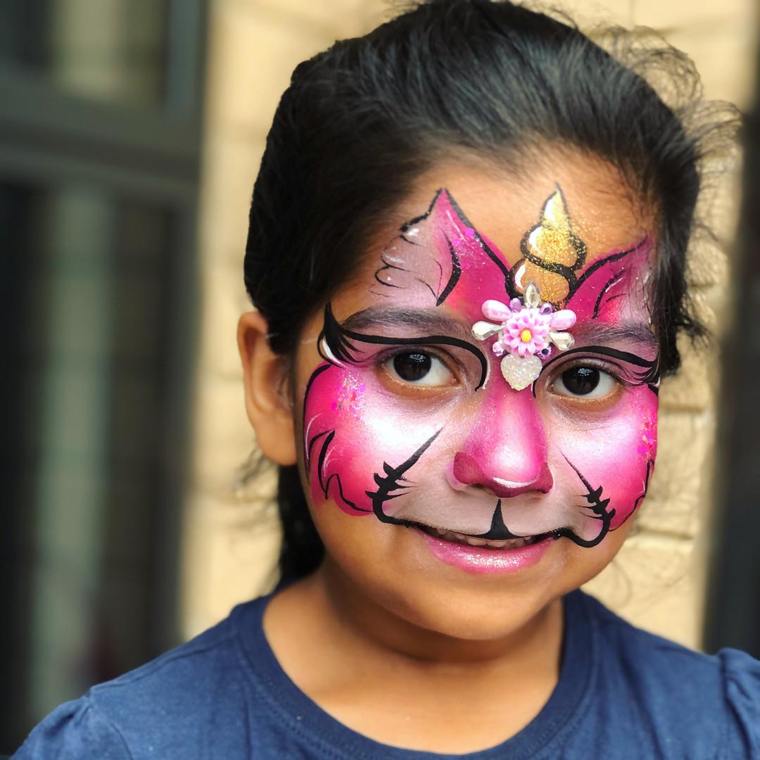 Cat Kitty unicorn face paint