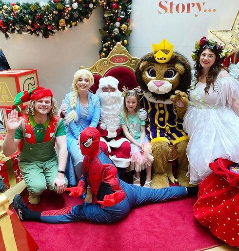 Christmas characters Spiderman, Elsa, Santa Wellington, New Zealand