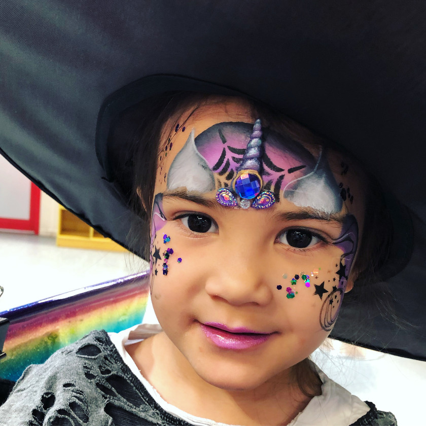 unicorn witch Halloween face painting wellington New Zealand