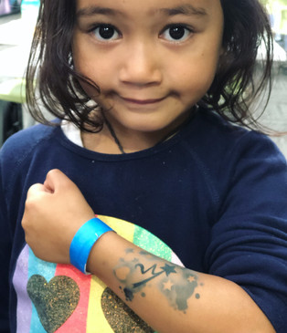 Girl with airbrush tattoo temporary Wellington New Zealand