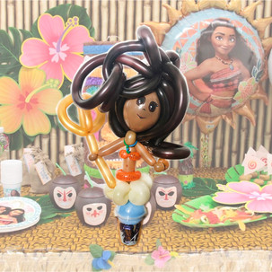 Moana balloon twisting party favour Wellington New Zealand