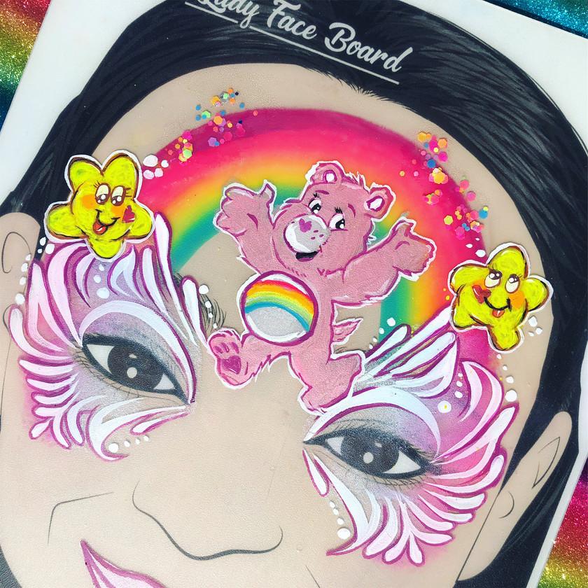 Care Bear face painting Wellington New Zealand