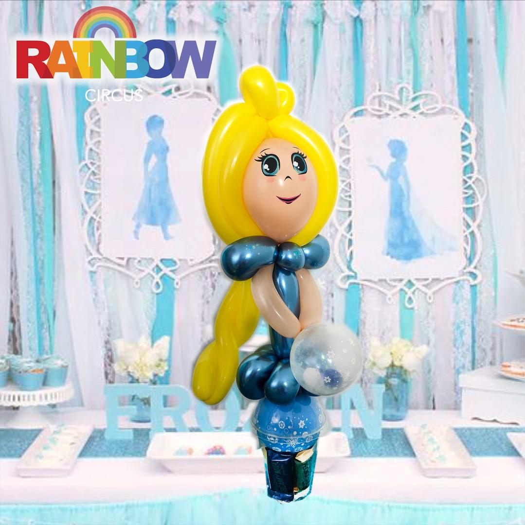 Elsa Frozen balloon twisting