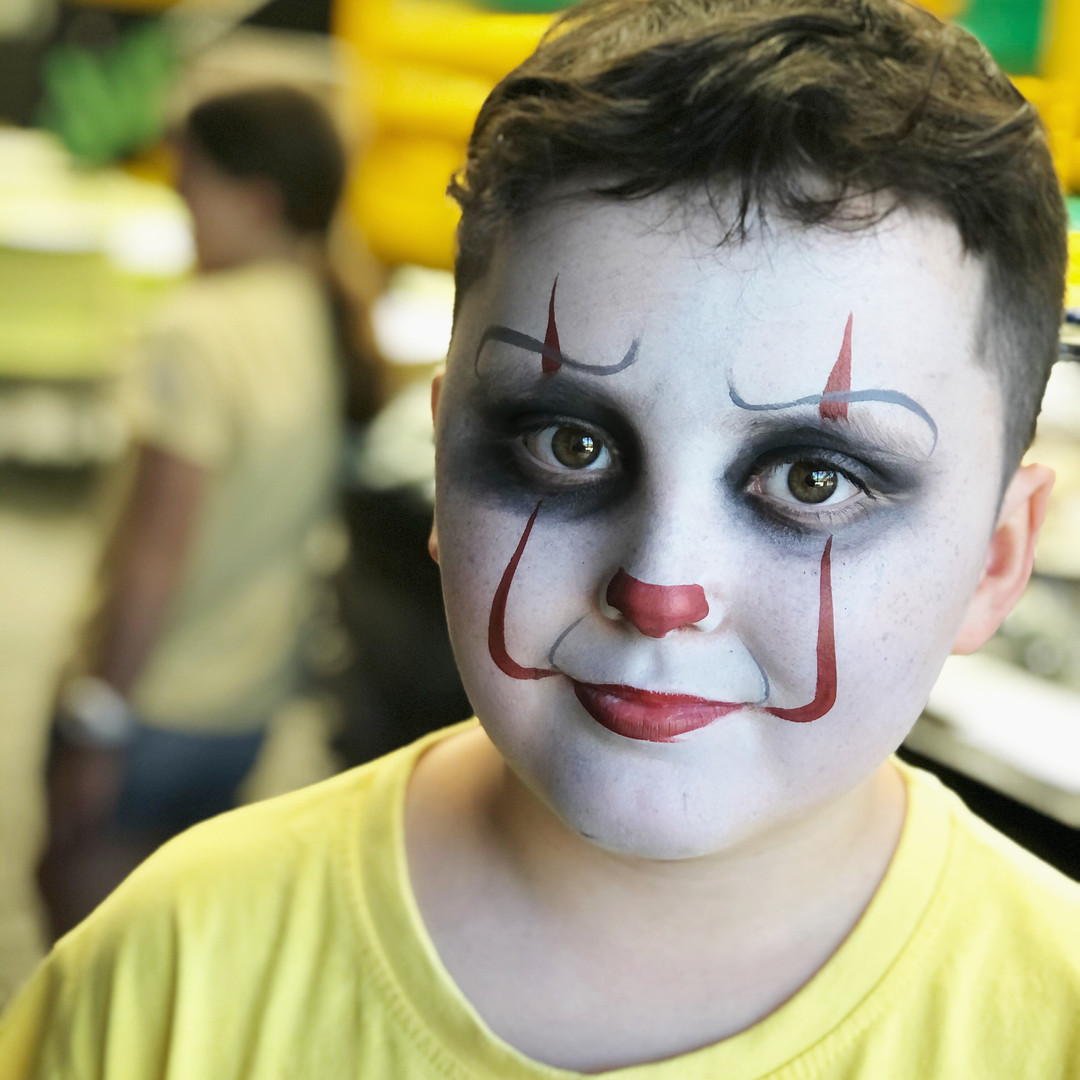 Pennywise the clown face paint