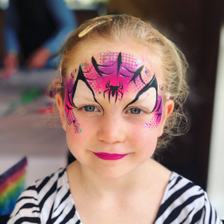 Spidergirl face paint