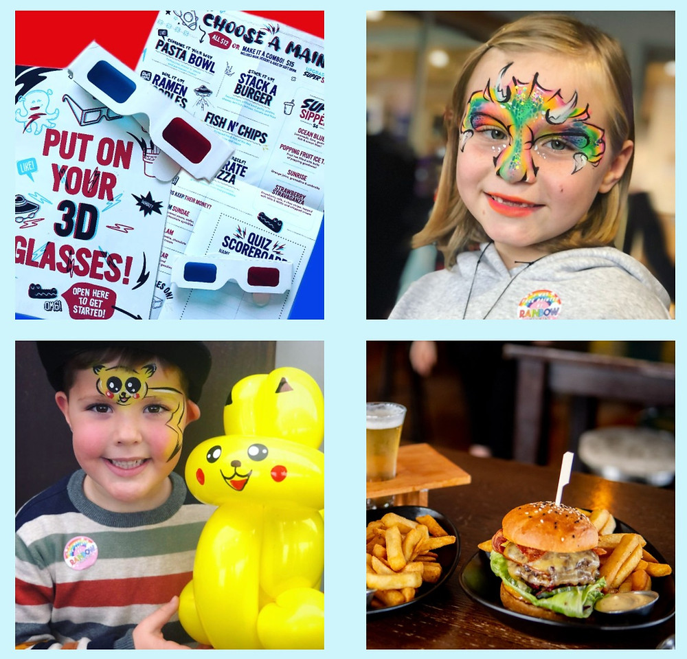 One Fat Bird free kids entertainment face painting and balloon twisting