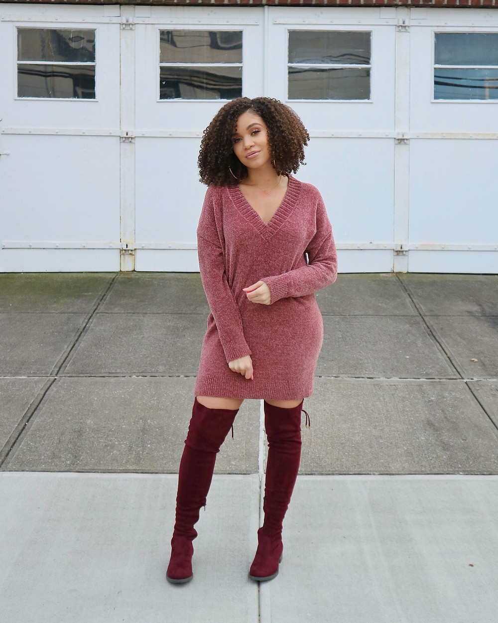 chenille dress otk boots