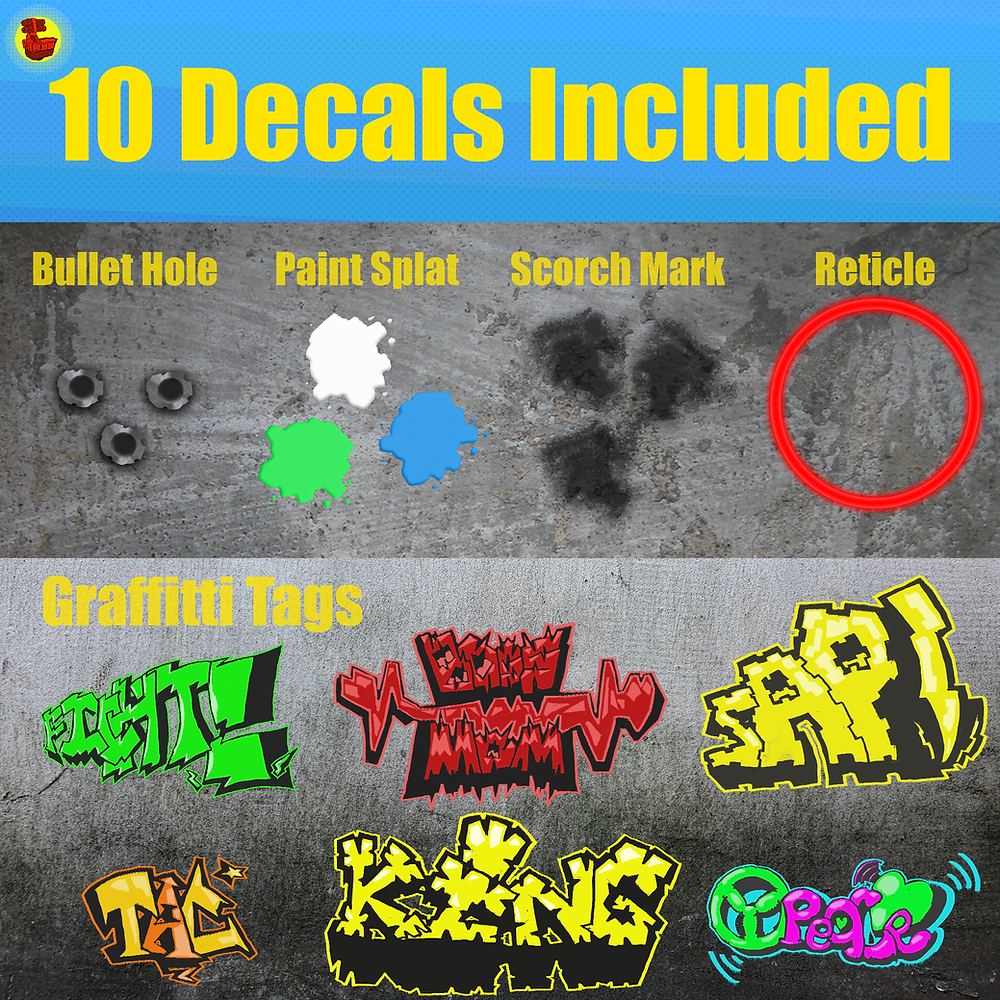 "picture of decals included with ""Decal King"""