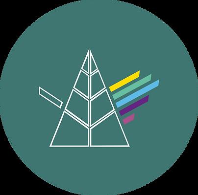 logotipo prisma responsivo verde escuro.