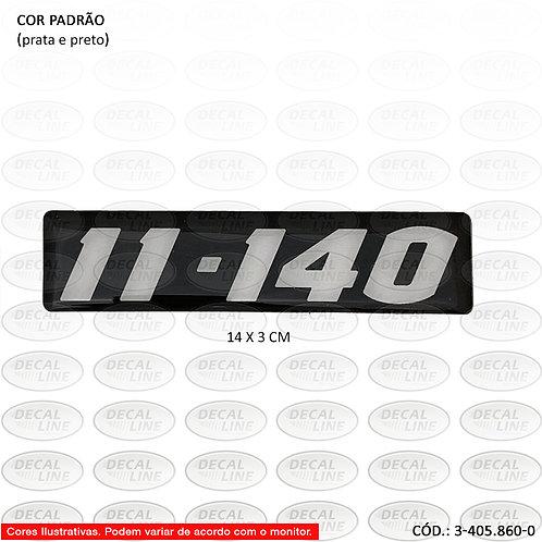 Emblema Numeração Prata Sobre Fundo Preto Para Caminhão VW 11-140
