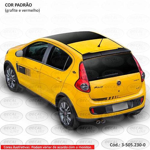 Faixa Auto Adesiva Para Fiat Palio Sporting Ano 2012