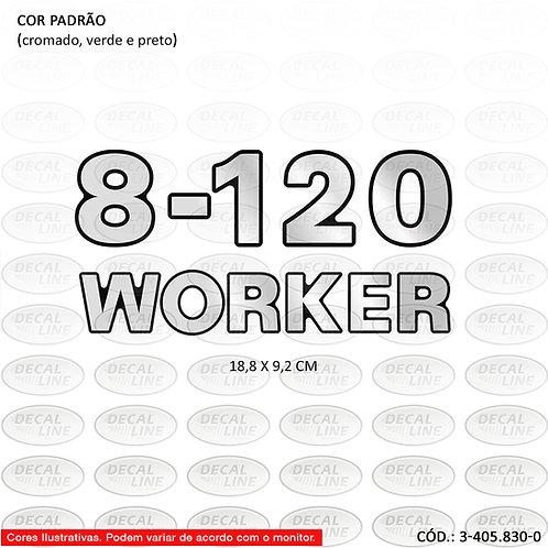 Emblema Numeração Laterais Para Caminhão VW - 8-120 Worker