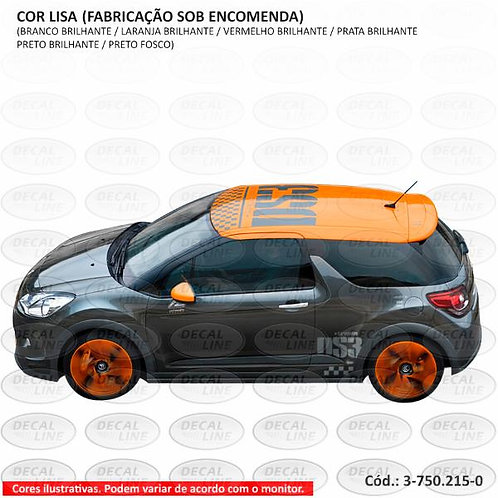 Emblema Adesivo Citroen DS3 Racing - Teto