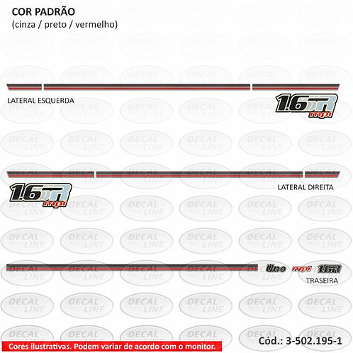 Faixa Auto Adesiva Para Veículo Fiat Uno Modelo 1.6 MPI