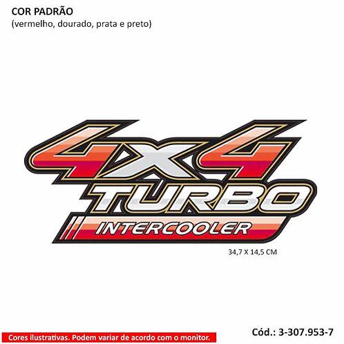 Emblema 4x4 Turbo Intercooler Toyota Hilux  -  Modelo 2009