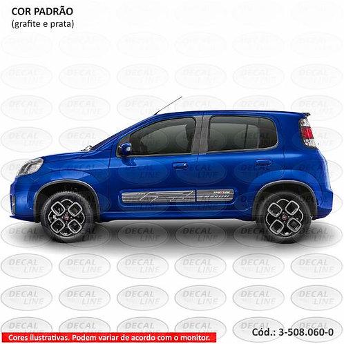 Faixa Auto Adesiva Para Fiat Novo Uno Sporting 2015