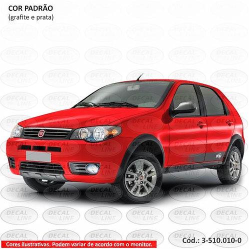 Faixa Auto Adesiva Para Veículo Fiat Palio Way 2014