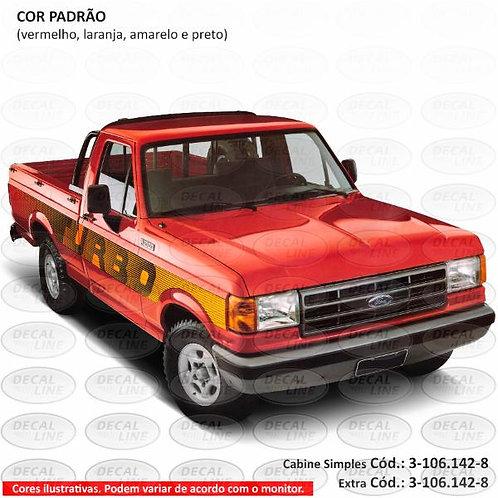 Faixa Auto Adesiva F1000 1993 Turbo Cabine Simples