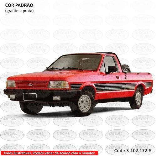 Faixa Auto Adesiva Para Veículo Ford Pampa Modelo 1990