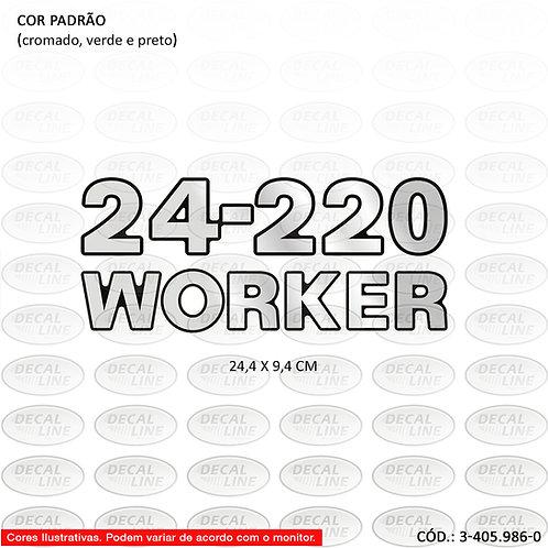 Emblema Numeração Laterais Para Caminhão VW 24-220 Worker