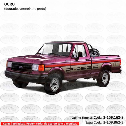 Faixa Auto Adesiva Ford F1000 1993 SS - Cabine Simples