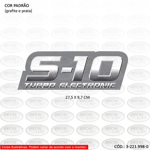 Emblema Auto Adesivo Para S10 Turbo Eletronic Ano 2009
