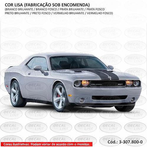 Faixa Auto Adesiva Dodge Challenger - Capô - Cor Lisa