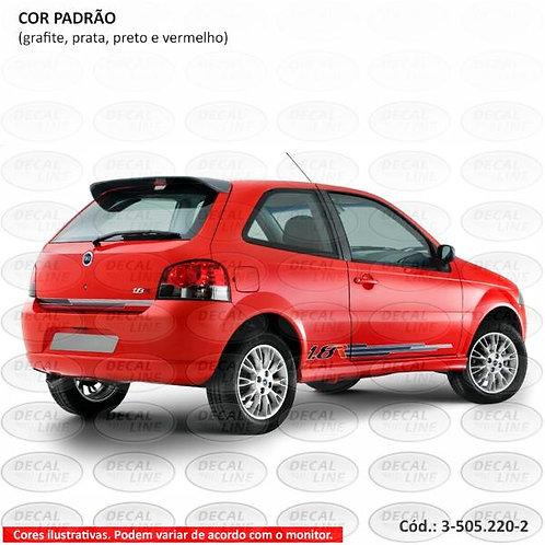 Faixa Auto Adesiva Para Fiat Palio Modelo 1.8R 2008