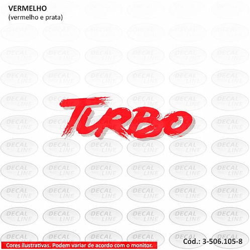 Emblema Auto Adesivo Para Veículo Fiat Uno Mille Turbo