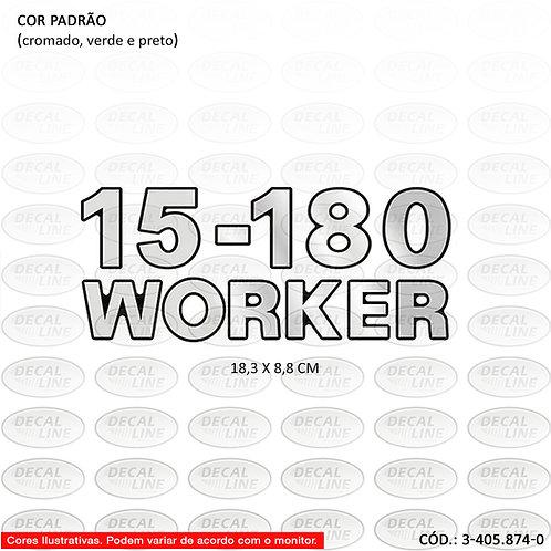 Emblema Numeração Laterais Para Caminhão VW 15-180 Worker