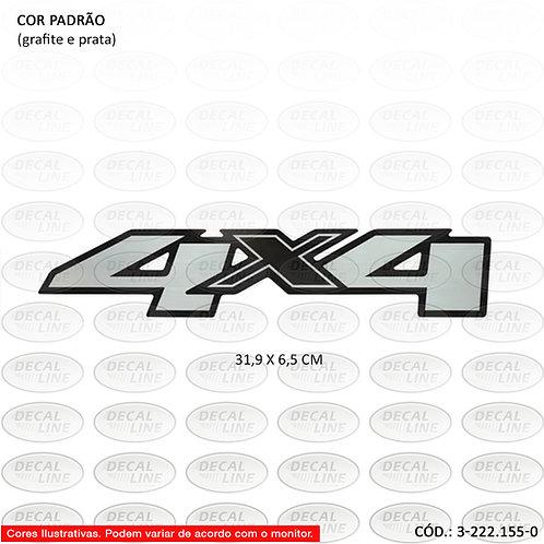 Emblema Auto Adesivo Chevrolet 4X4 Modelo S10 2012