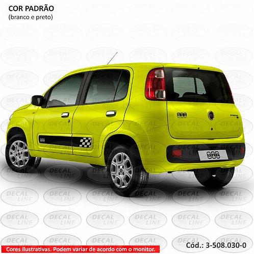 Faixa Auto Adesiva Fiat Novo Uno Podium - Laterais