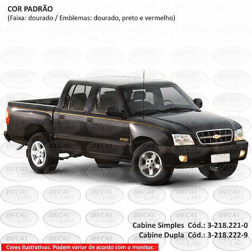 Faixa Auto Adesiva S10 Executive 2001 Cabine Simples