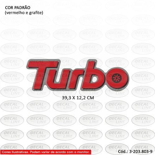 Emblema Auto Adesivo Para Veículo Chevrolet Modelo Turbo
