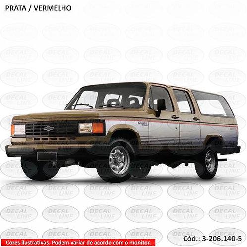 Faixa Auto Adesiva Para Chevrolet Veraneio Ano 1989
