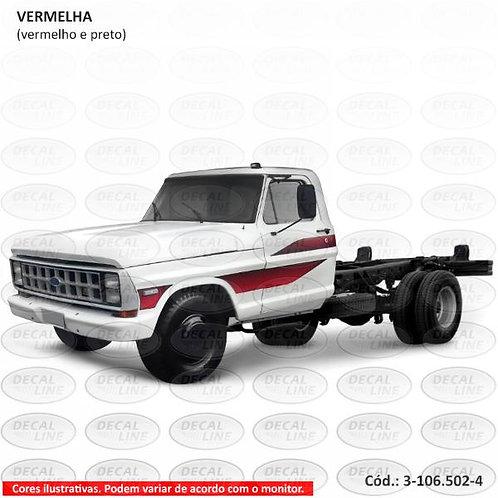 Faixa Auto Adesiva F4000 - Modelo 1989 - Cabine Simples