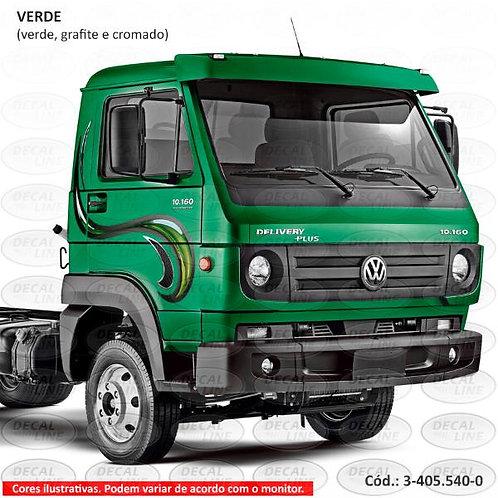 Faixa Auto Adesiva Para Caminhão Volks 2012 - Cromada