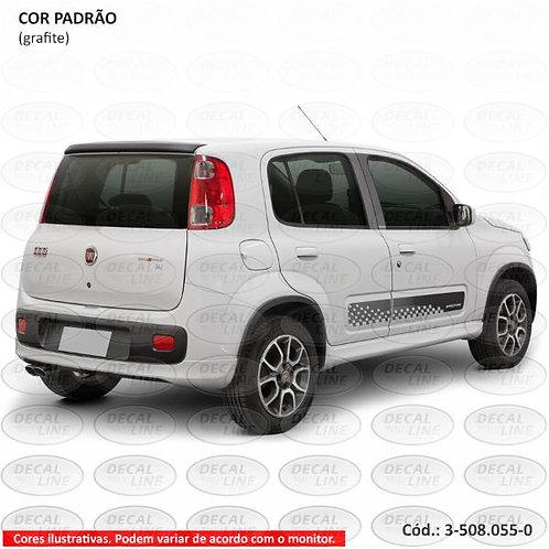 Faixa Auto Adesiva Para Fiat Novo Uno Sporting 2013