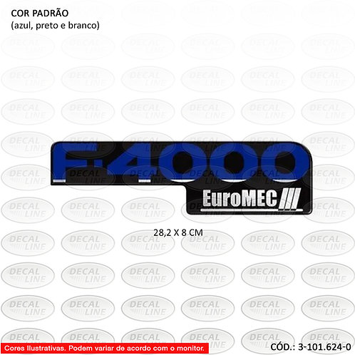 Emblema Auto Adesivo F4000 Euromec III - Padrão Original