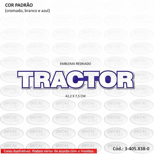 Emblema Auto Adesivo Tractor Para Caminhão VW - Resinado 6X4