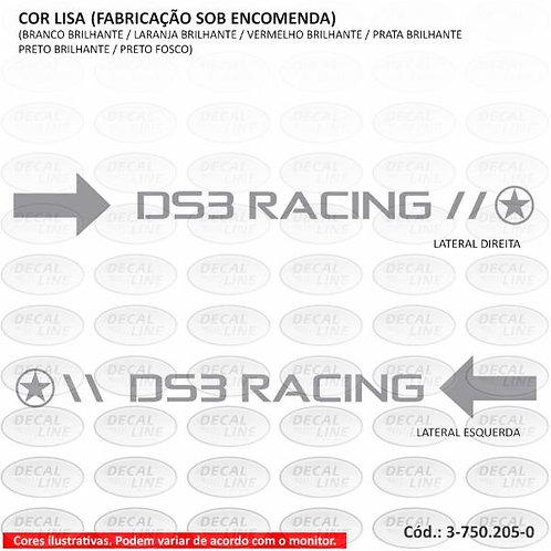 Emblema Adesivo Para Citroen DS3 Modelo Racing - Capô