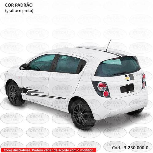 Faixa Auto Adesiva Para Chevrolet Sonic Effect 2013