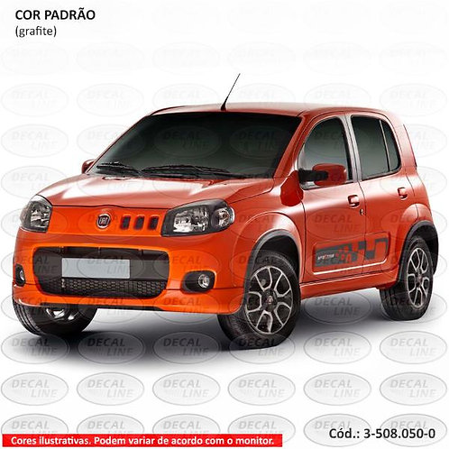 Faixa Auto Adesiva Para Fiat Novo Uno Sporting 2011