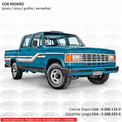 Faixa Auto Adesiva Chevrolet D20 1990 - Cabine Dupla