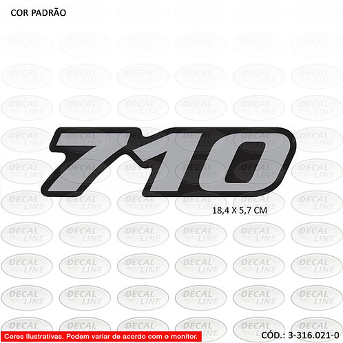 Emblema Auto Adesivo MB 710 Novo Reticulado